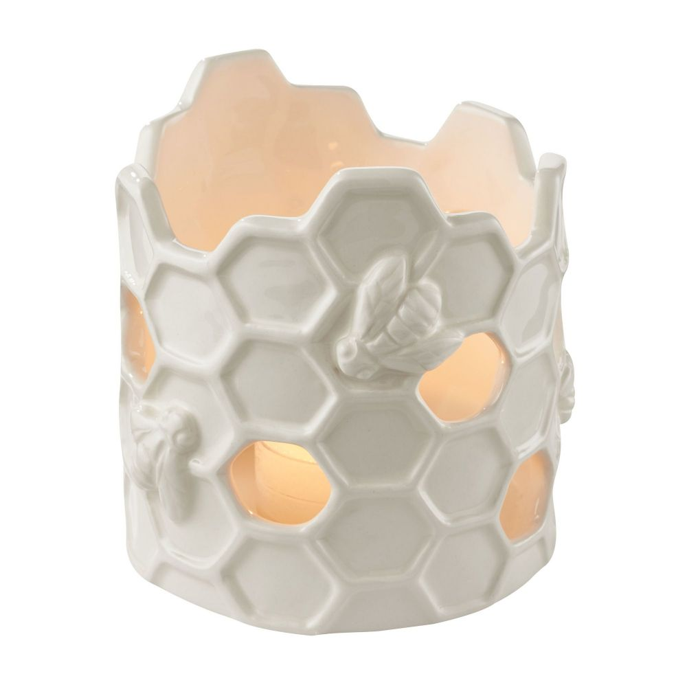Department 56 Let It Bee Honeycomb Ceramic Summery Tealight Candle Holder 4050853
